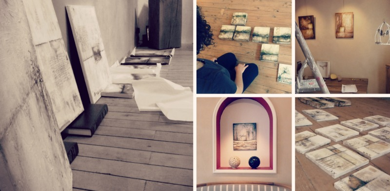 Sneak peek of the day we hung the exhibition!