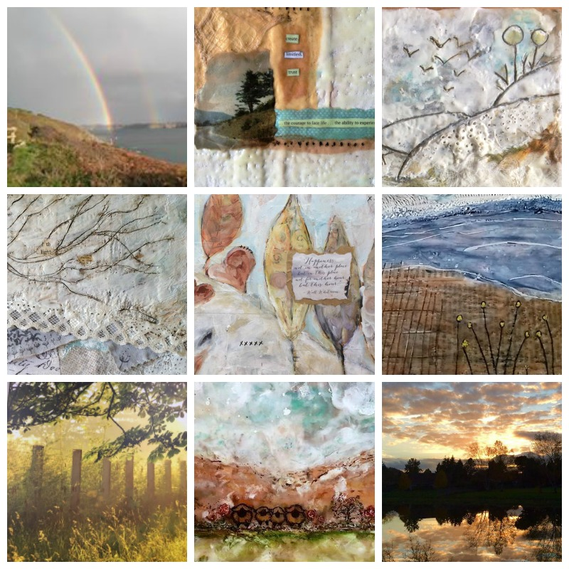 Landscapes and inner journeys... from top left: Sabyne Alain, Kelly Ludwin Rish, Carol Macdonald,Kelly Ludwin Rish,Sherri McCulloch, Sabyne Alain,Jan Bianchi,Alyssa Blais and Ruth Packard