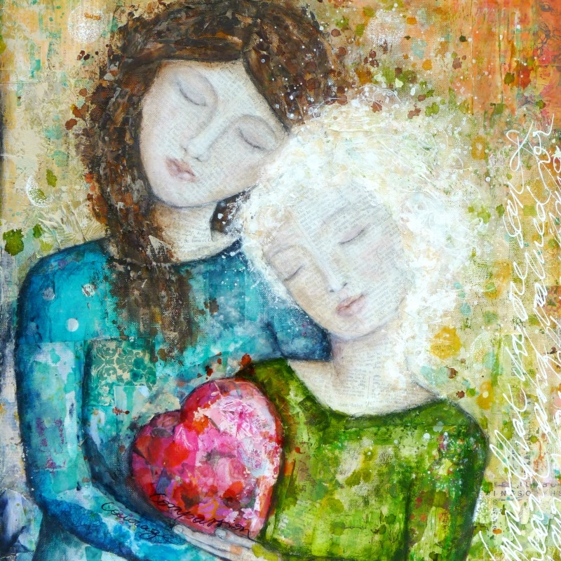 """""""Compassion"""", mixed media painting on canvas"""
