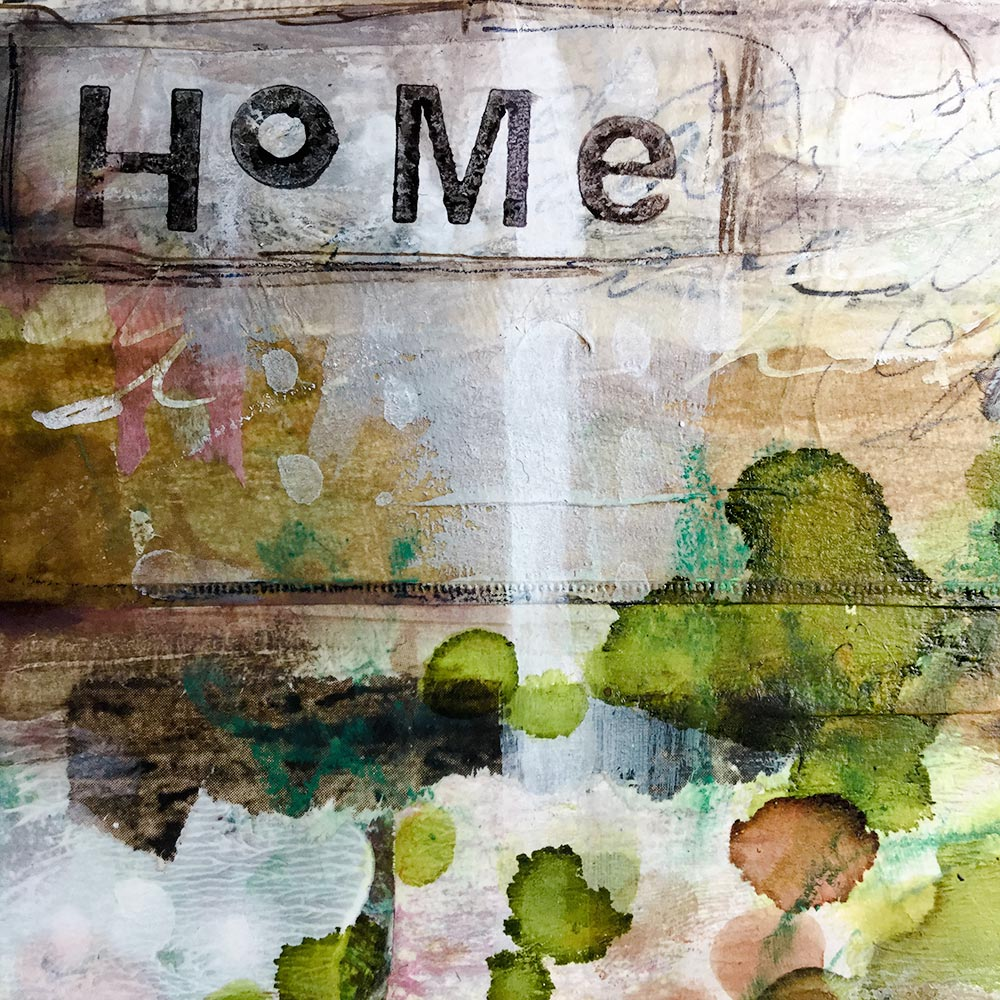 "Art Journaling with a ""word of the year"" - Laly Mille"