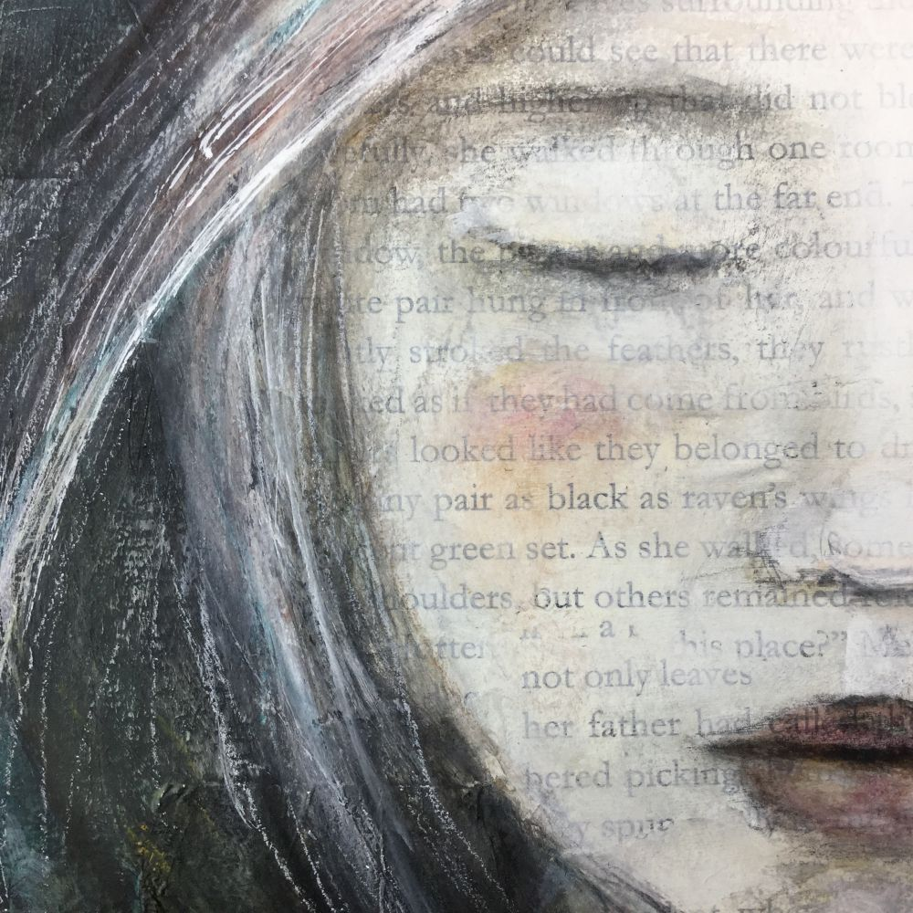 She found her wings by Laly Mille. From The Artist & the Journal online class