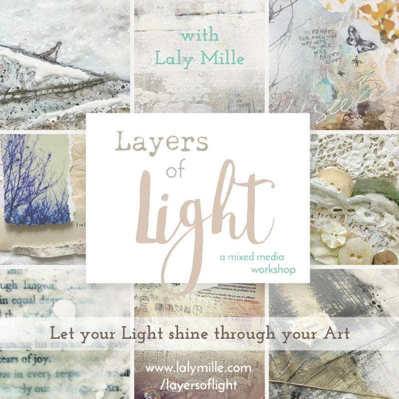 Layers of Light workshop with Laly Mille -  A luminous journey through mixed media painting
