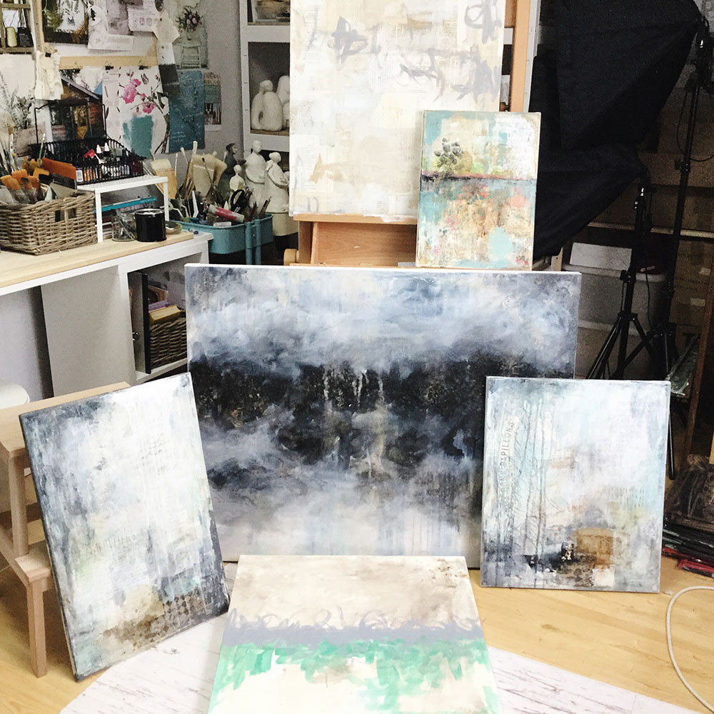 Laly Mille - abstract paintings series in progress