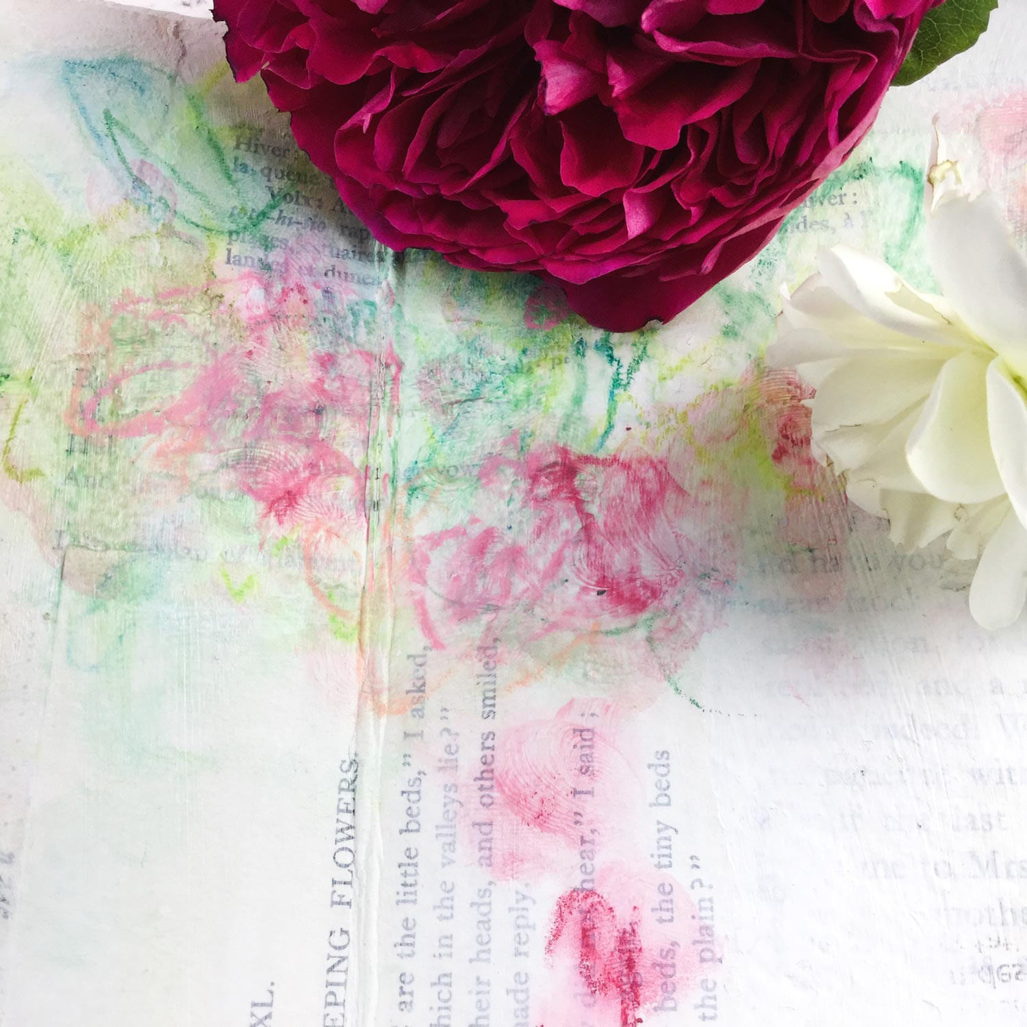 """""""Wild Roses"""" Abstract Floral Painting Lesson with Laly Mille"""