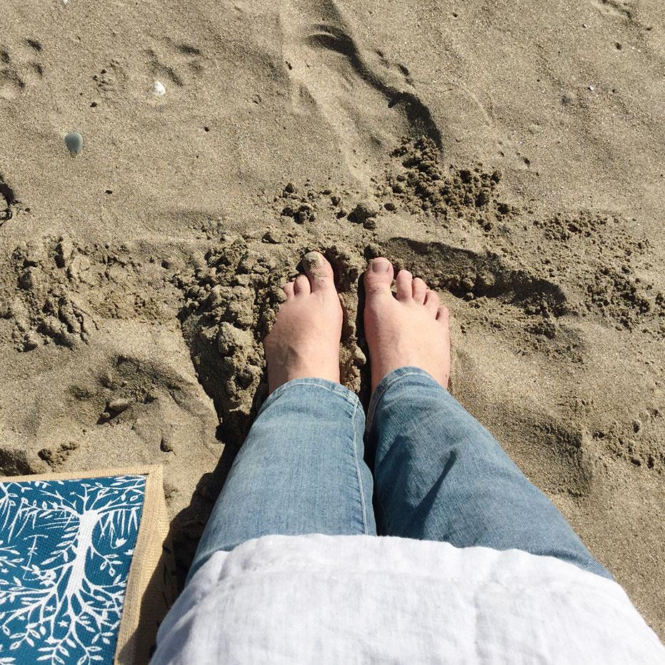 Séance peinture à la plage