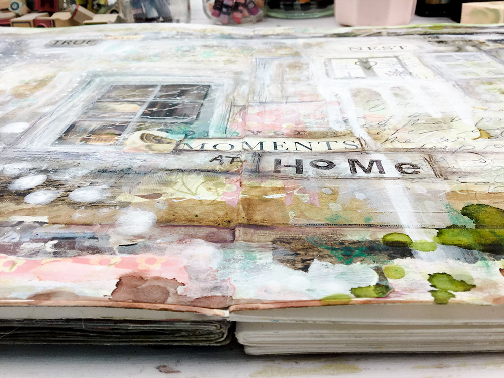 Laly Mille - Moments at Home - Art Journal Page