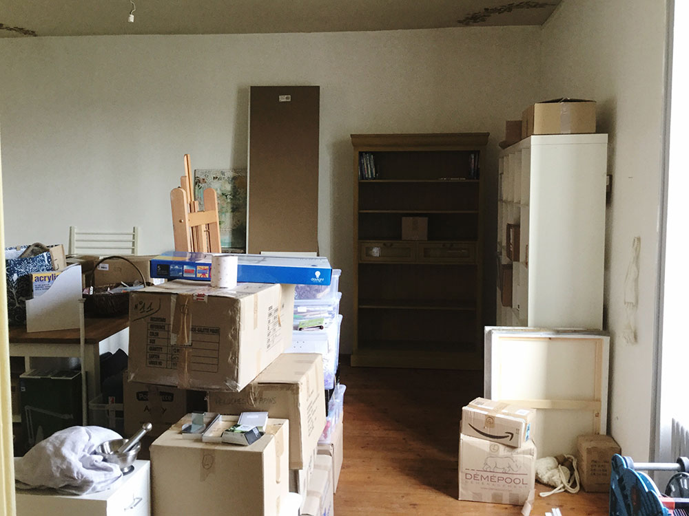 What the space looked like after the movers left…