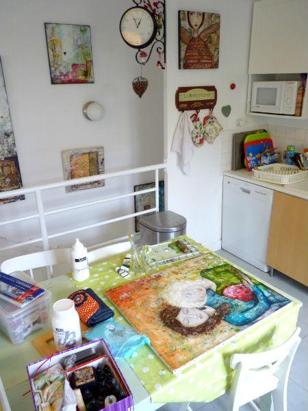 La table de cuisine de mes premières années d'artiste…