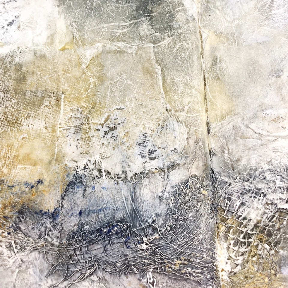 Paper, cheesecloth, gesso and inks…
