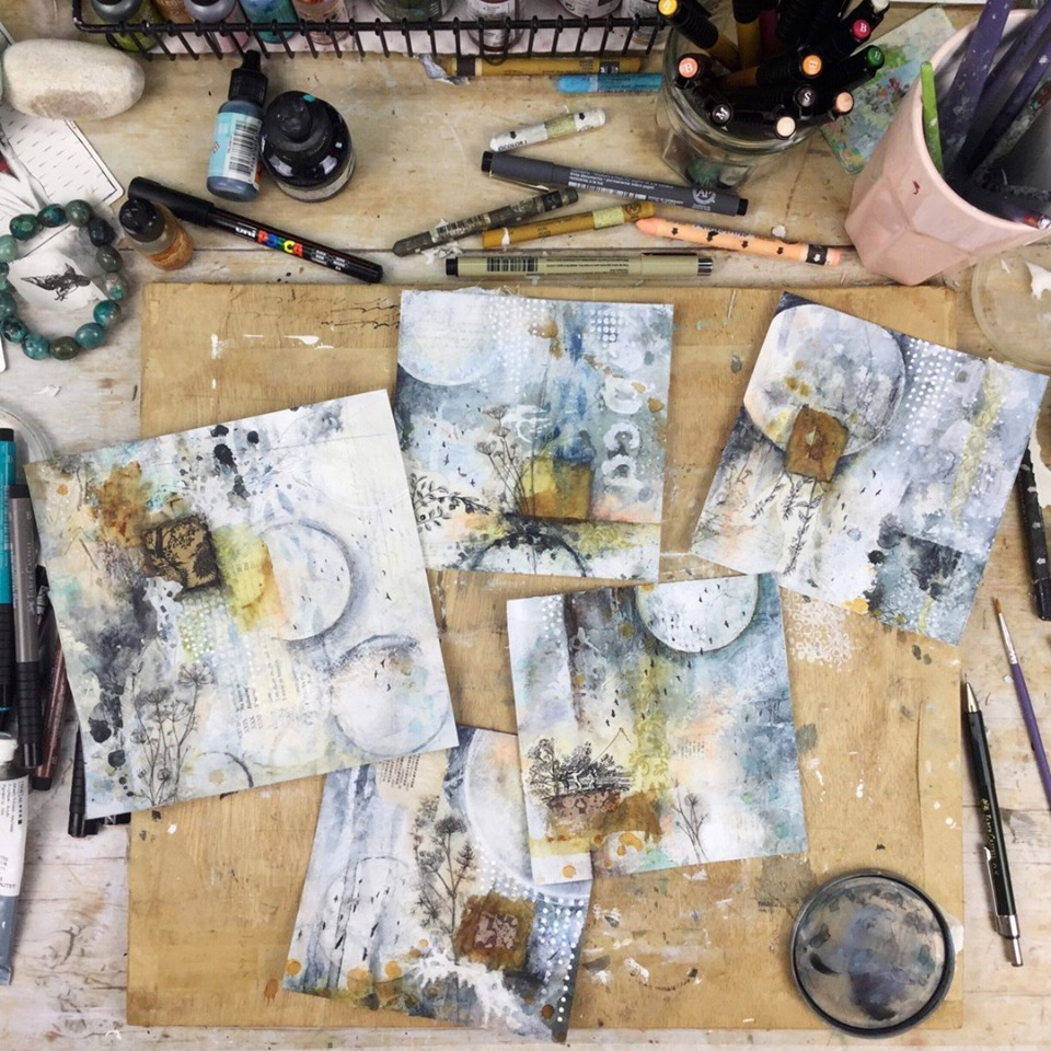 Soulful Abstracts class with Laly Mille