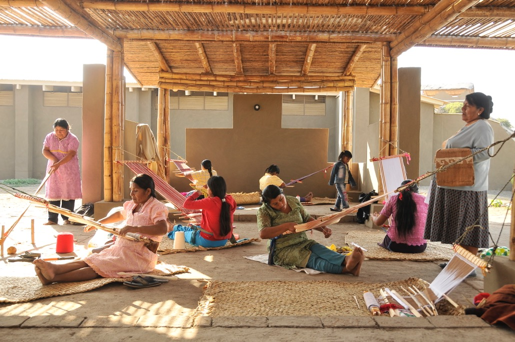 Some of the women weavers involved in our  Chotuna project  producing their new product line