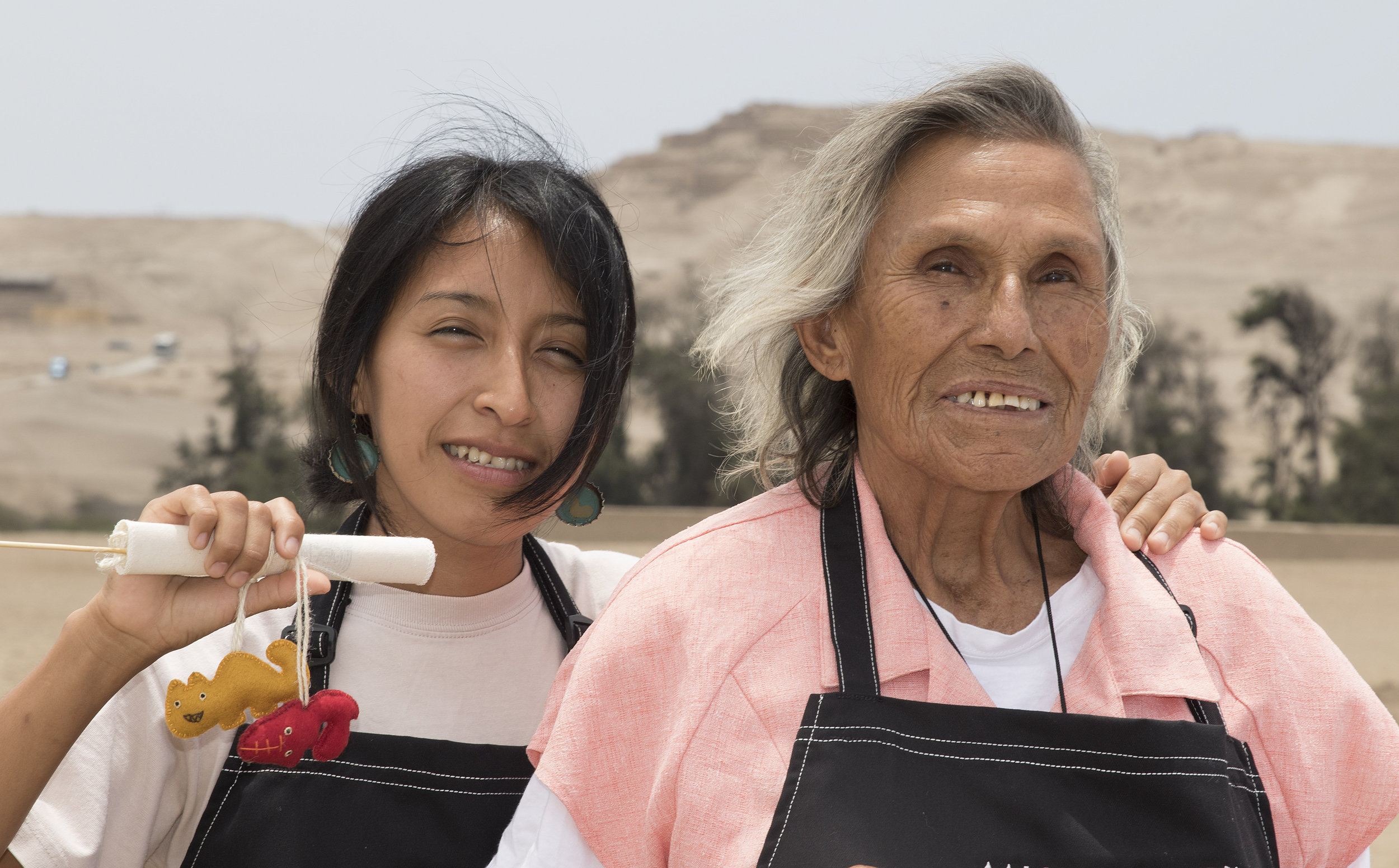 Pachacamac, Peru : SPI is promoting community development and site preservation by bringing together 23 women from settlements around Pachacamac to create a sustainable community business. The women have been trained in business and artisan skills and are working together to create craft products related to the cultural history of Pachacamac. They control and own the business, now called 'SISAN' and through it they build sustainable livelihoods for themselves and their families, strengthen local identity and put the site at the heart of the community.