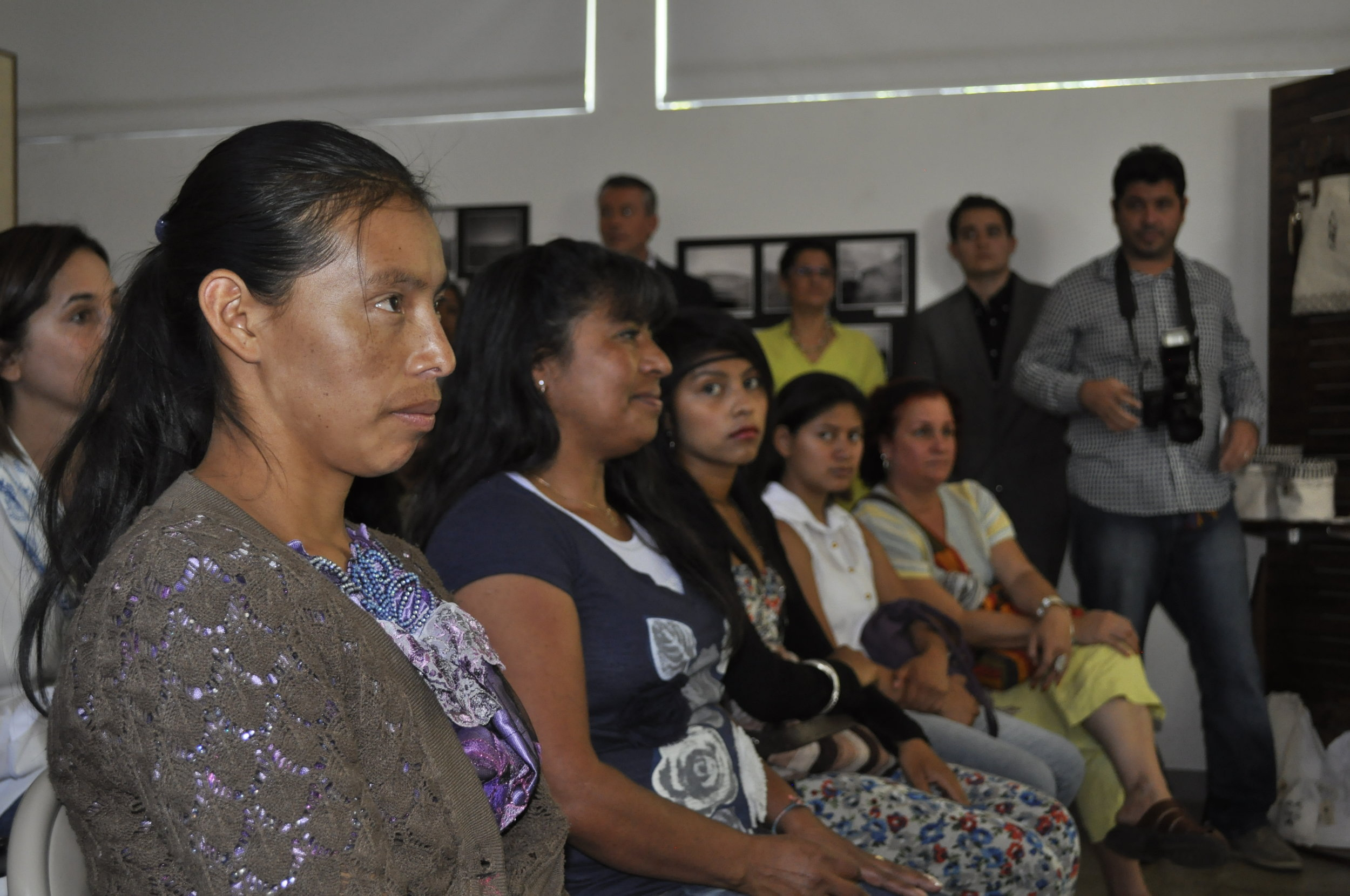 Kaminaljuyu, Peru:  The site provides no current economic benefit to its surrounding community. SPI is working with local NGO  Comunidades de la Tierra (Communities of the Earth) to provide capacity training to 15 local women artisan-producers. The women are learning business and production skills to make a variety of goods under the brand 'Rebirth Kaminaljuyu'. The products include artistic interpretations of ancient iconography and stories about the artisans themselves. Rebirth Kaminaljuyu products are being sold around the world through our partner  Wakami .