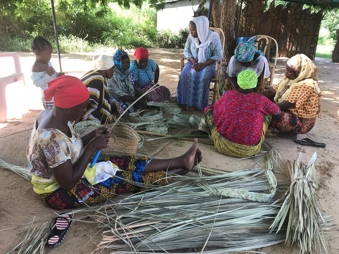 Tanzania's Government will ban the use of plastic bags beginning on July 1, 2019. As a response, the women's cooperative that we support at the site of Kaole, WAUTO, has begun producing baskets, mats etc using locally available environmental friendly materials.
