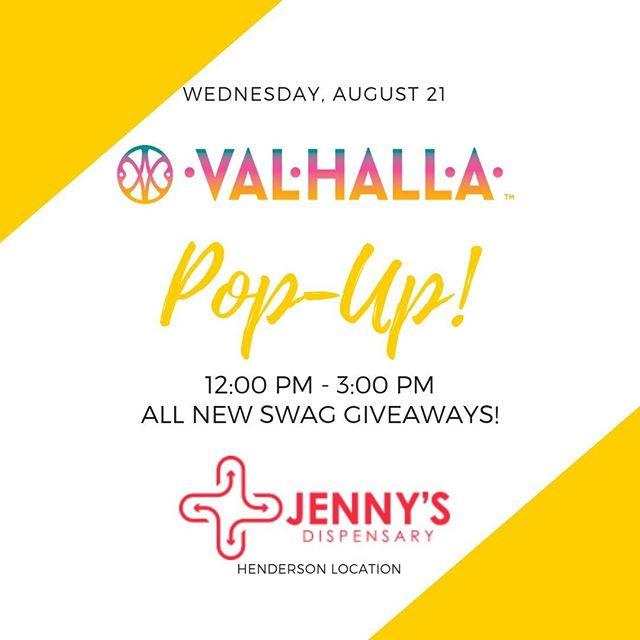 We'll be hanging out with @jennys_henderson tomorrow, August 21st from 12PM - 3PM. Make sure to stop by! ————————————— #ValhallaConfections #ValhallaEdibles #CannabisCommunity #PopUpEvent Keep out of reach of children. For use only by adults 21 years of age and older.
