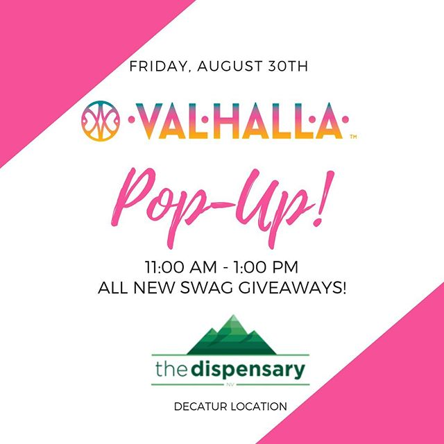 """We'll be hanging out with The Dispensary tomorrow, August 30th from 11AM - 1PM. Come say """"Hello!"""" ————————————— #ValhallaConfections #ValhallaEdibles #CannabisCommunity #PopUpEvent Keep out of reach of children. For use only by adults 21 years of age and older."""