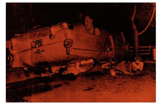 "Andy Warhol, ""Five Deaths"" (1963).Image credit:  Art Blart ."