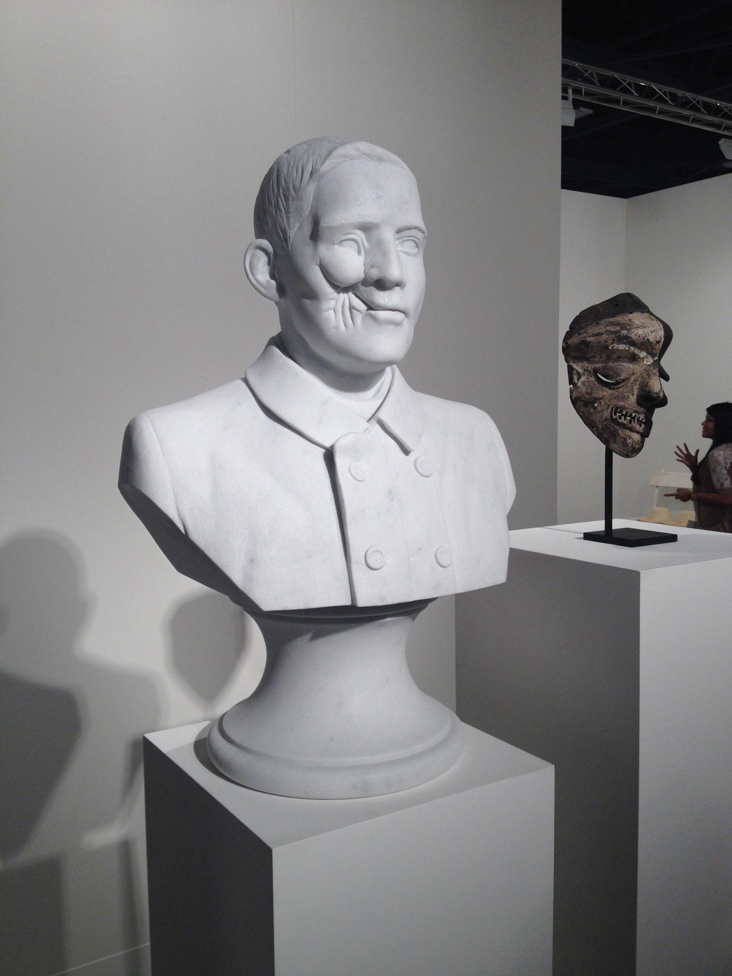 """Kader Attia, """"Soldat Blesse, Masque Malade (Lega)"""" (2013), at Galleria Continua's booth."""