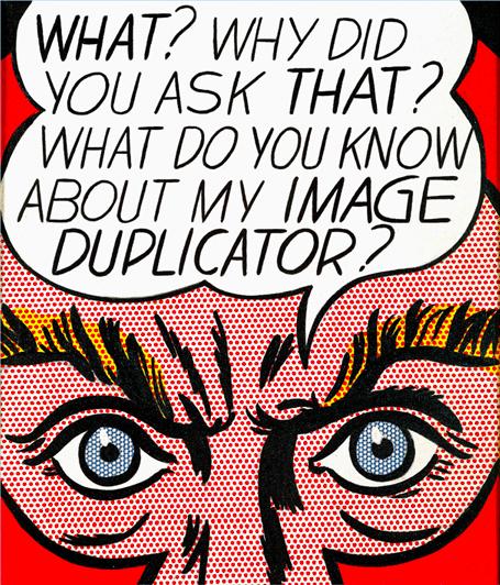 """Roy Lichtenstein, """"Image Duplicator"""" (1963). Image credit:  Moderna Museet Webshop ."""