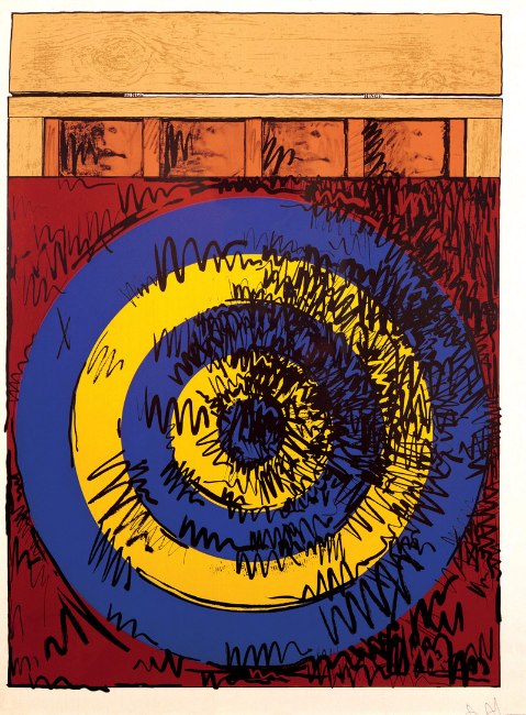 "Jasper Johns, ""Target with Four Faces"" (1968). Edition of 100. Image credit:  The Curated Object ."