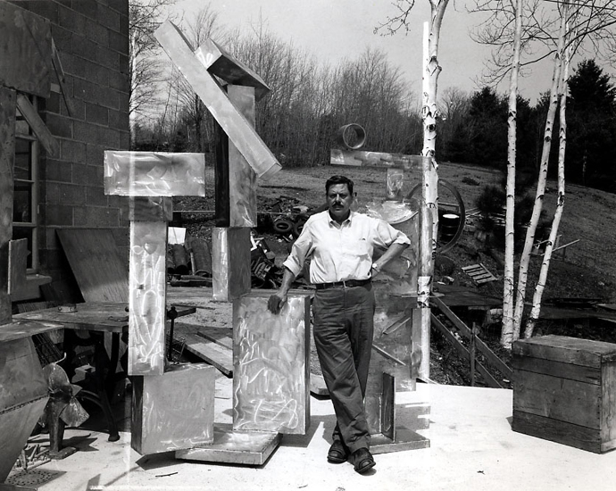 David Smith at his studio. Image credit:  Phaidon .