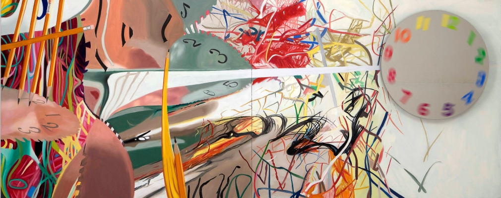 "James Rosenquist, ""Time Stops the Face Continues,"" 2008. Image credit:  Acquavella Galleries ."