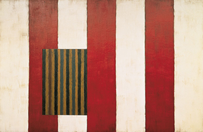 "Sean Scully, ""Pale Fire,"" 1988. Image credit:  The Modern ."