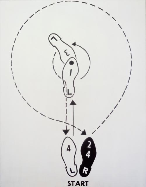 """Andy Warhol, """"Dance Diagram [3] [The Lindy Tuck-In Turn-Man],"""" 1962. Image credit:  The Broad ."""