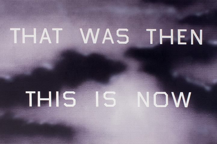 "Ed Ruscha, ""That Was Then This Is Now,"" 2014. Image credit:  Art Brokerage ."