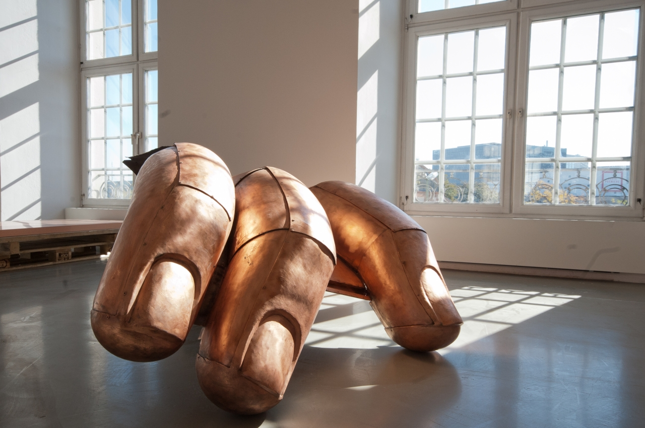 "Danh Vō, Installation view of ""JULY, IV, MDCCLXXVI,"" 2011. Image credit:  Contemporary Art Blog ."