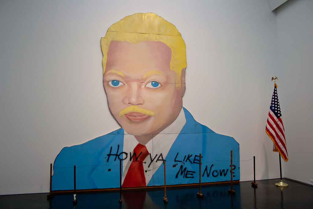 "David Hammons, ""How Ya Like Me Now?,"" 1988. Image credit:  Broc Blegen ."