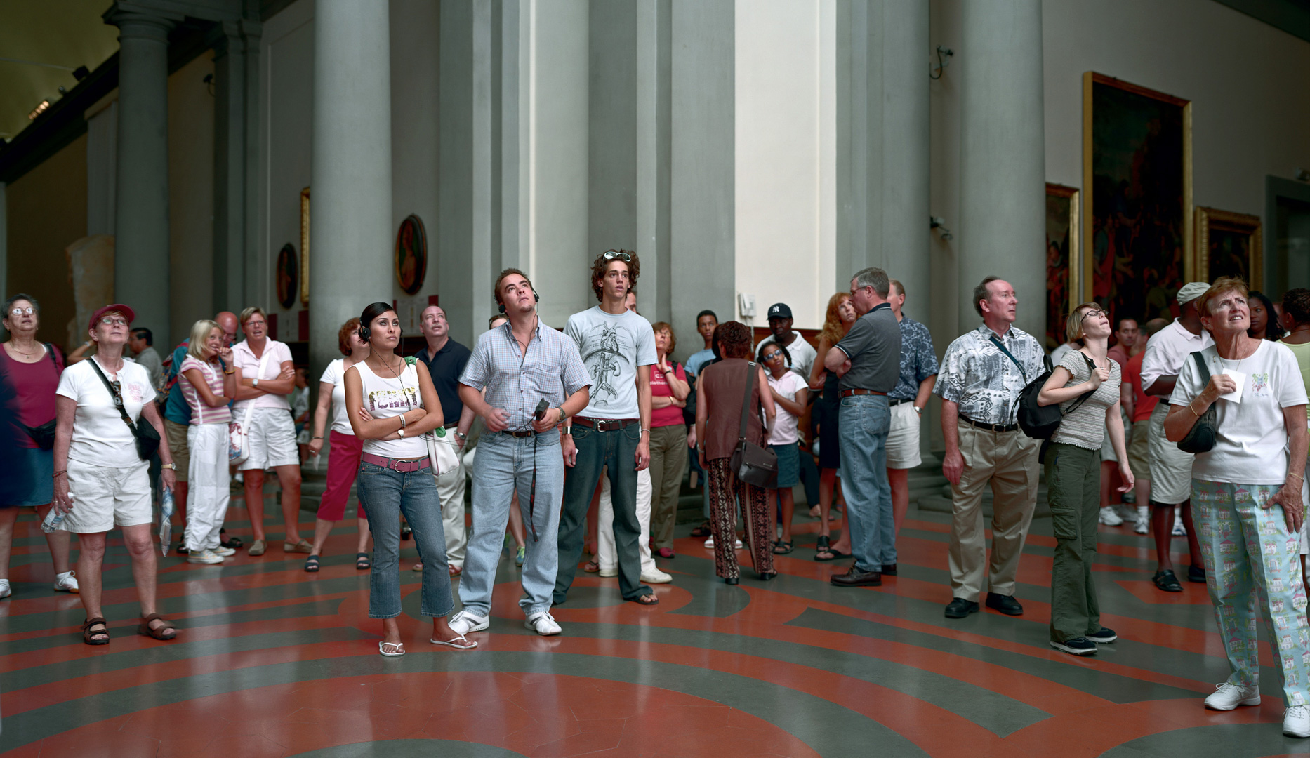 """Thomas Struth, """"Audience 5 (Galleria Dell'Accademia, Florenz),"""" 2004. Image credit:  The Broad ."""