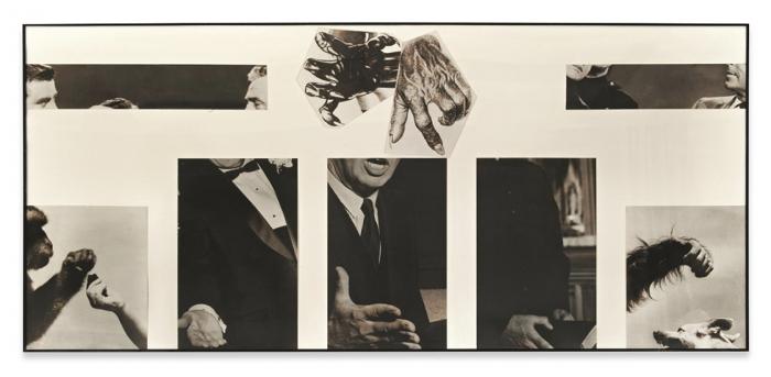 "John Baldessari, ""Space Between Glad Hands,"" 1986. Image credit:  Sprueth Magers ."