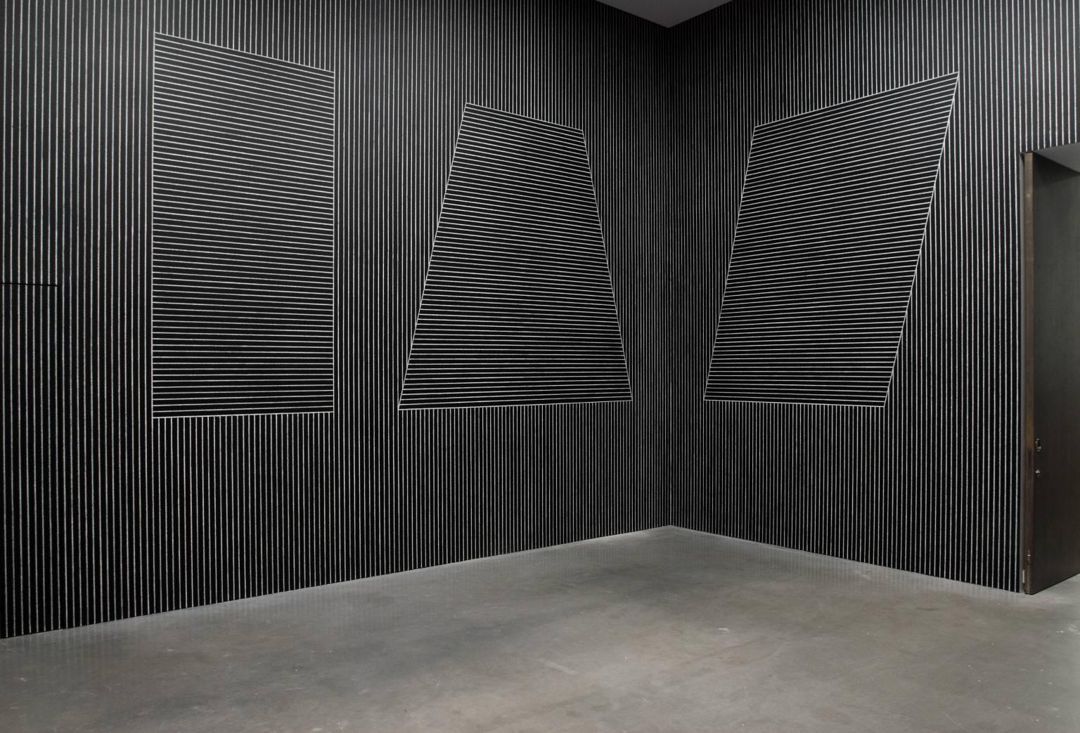 "Sol LeWitt, ""Six Geometric Figures (+Two) (Wall Drawings),"" 1980-81. Image credit:  Tate ."