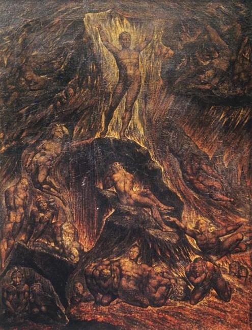 William Blake,  Satan Calling Up His Legions , 1804. Image credit:  WikiArt .