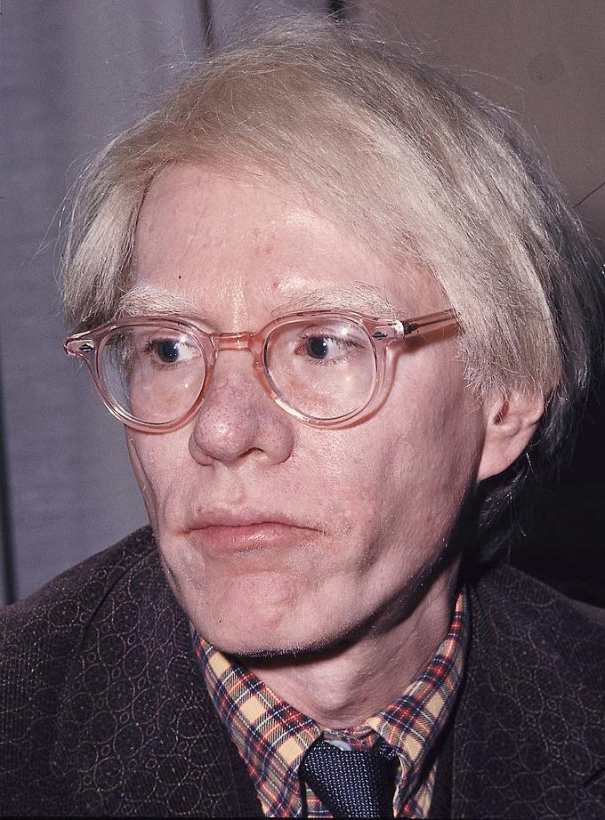 Andy Warhol, 1975. Image courtesy of Wikipedia.