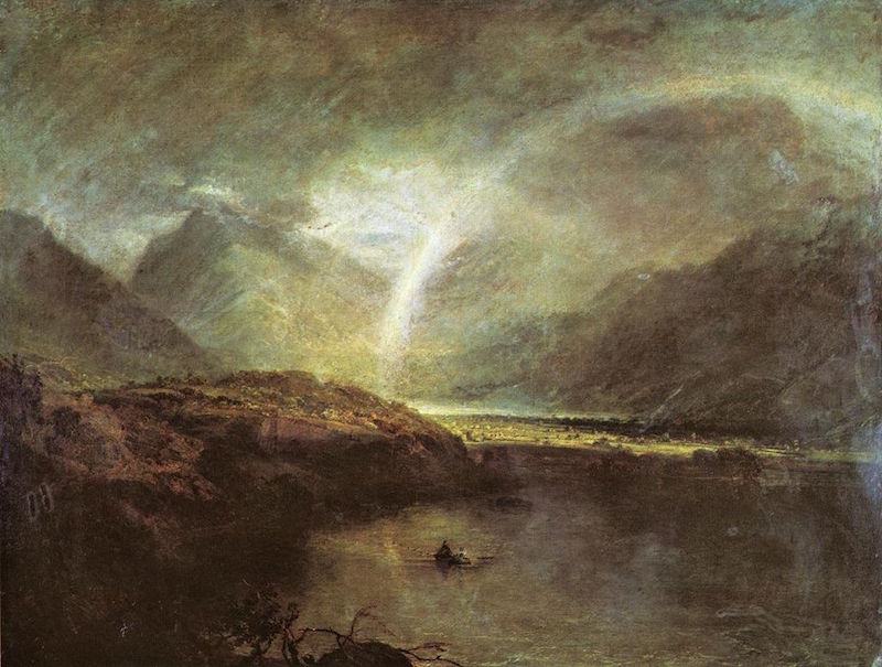 J.M.W. Turner, Buttermere Lake, with Park of Cromackwater, Cumberland, a Shower, ca. 1797-98. Image courtesy of Wikipedia.