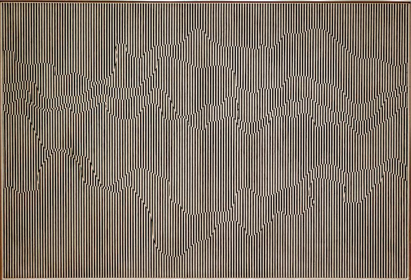 Julian Stanczak, The Duel, 1963. Image courtesy of  F  lick user Sharon Mollerus .