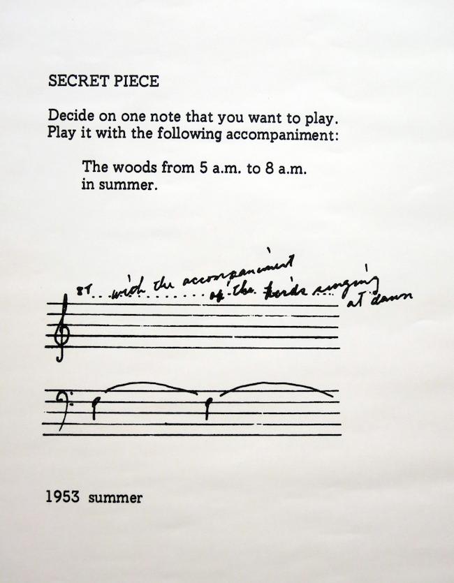Yoko Ono, Secret Piece, 1953.Image courtesy of  Flickr user Emiliano .
