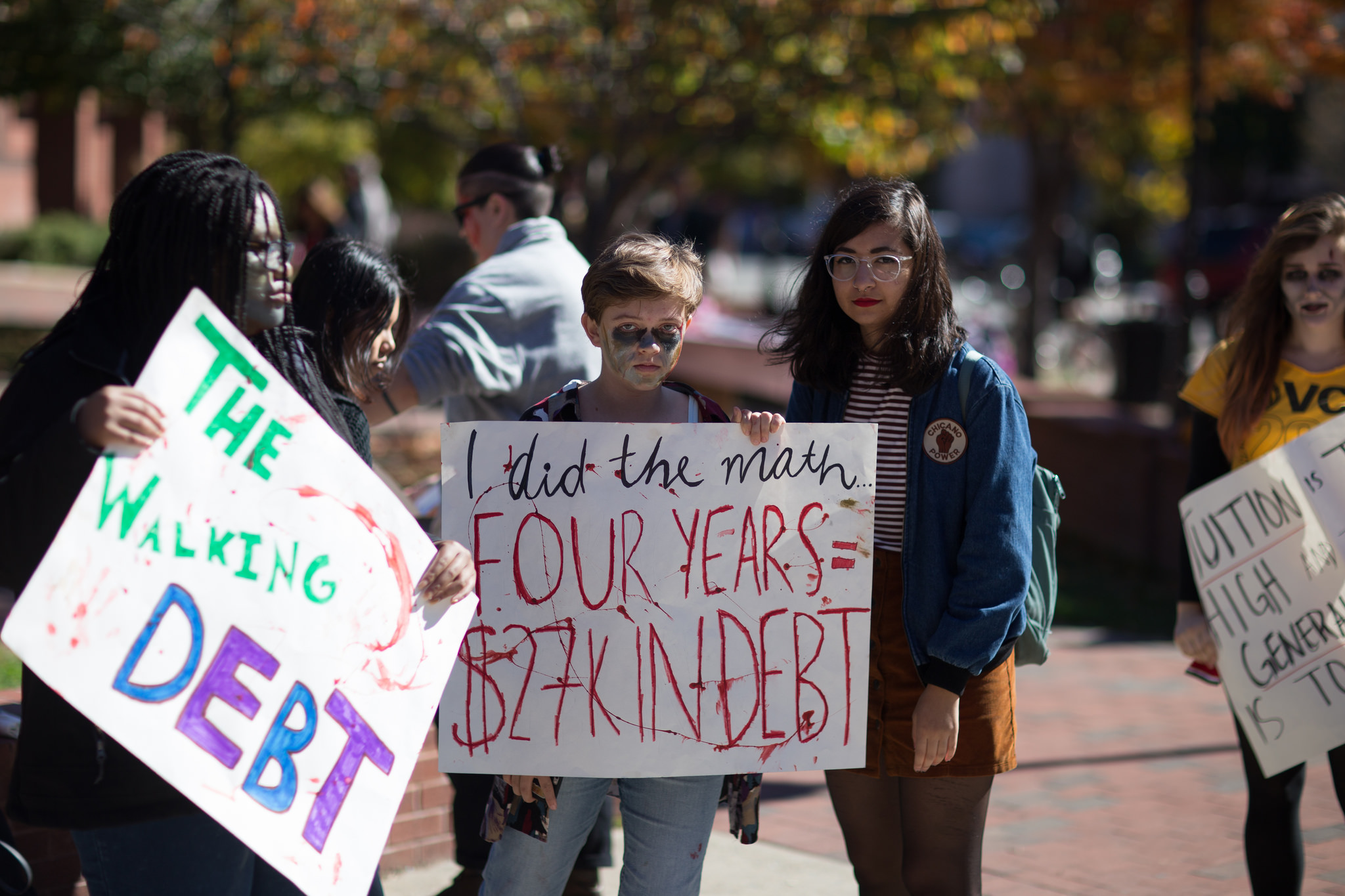 A 2015 student-debt protest. Photography by Tom Woodward. Image courtesy of Flickr.