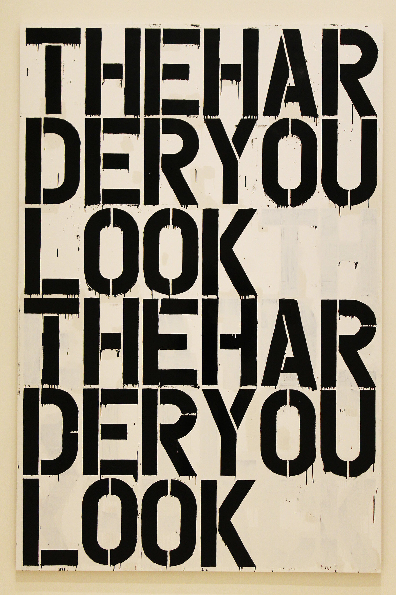 Christopher Wool,  Untitled , 2000. Photography by  F  lick user Jules Antonio .