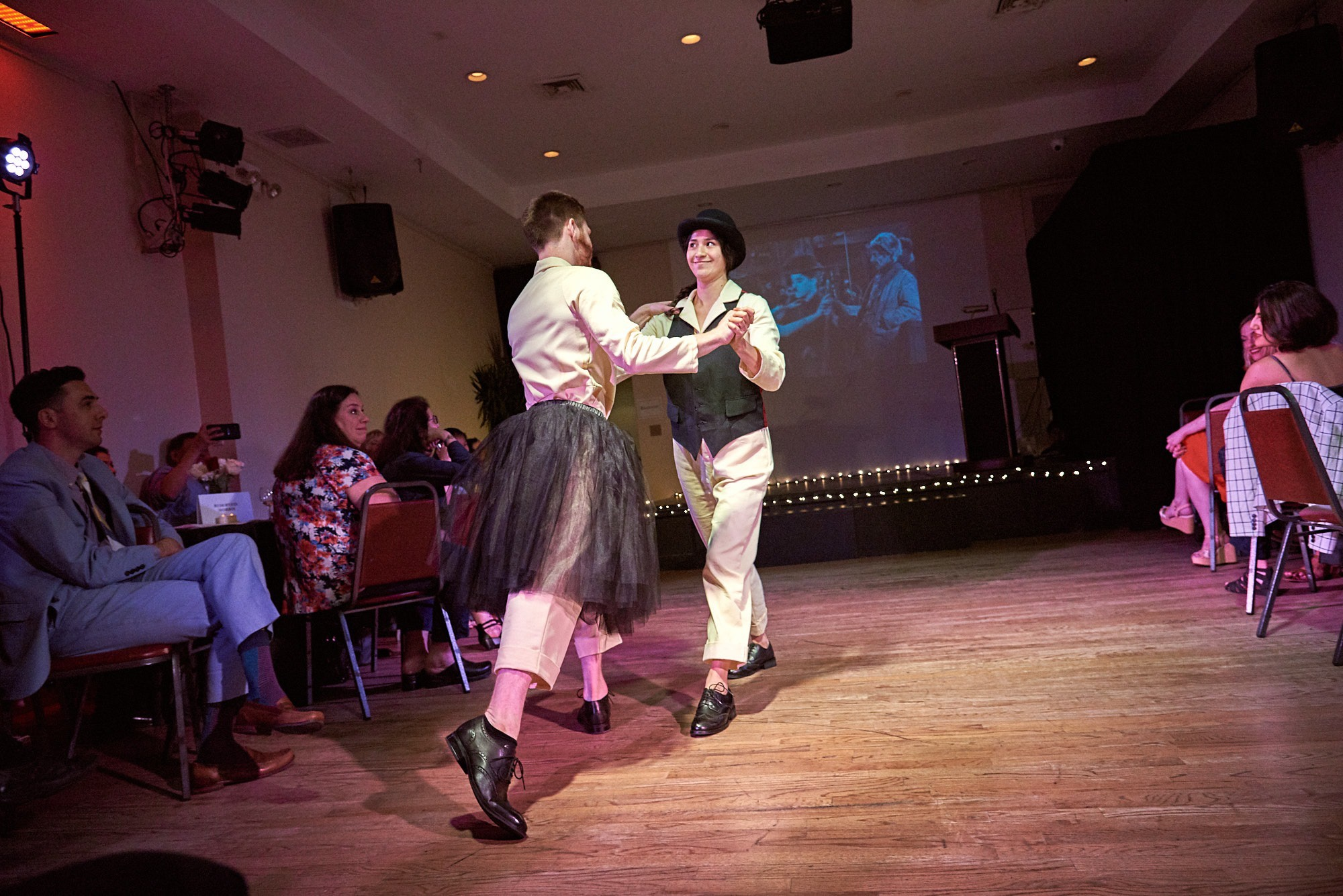 Peter Farrow and Tiffany Ogburn in my work Gold Rush for Live Source Theater Gala
