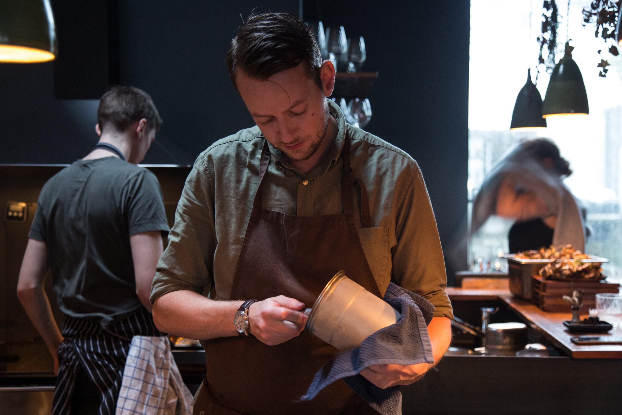 Head Chef Kari Thorsteinsson scooping ice cream.jpg