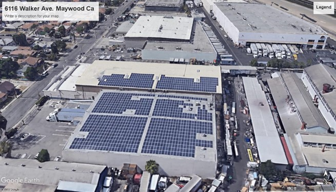 SJ Seafood, Los Angeles Location Solar Array Overview