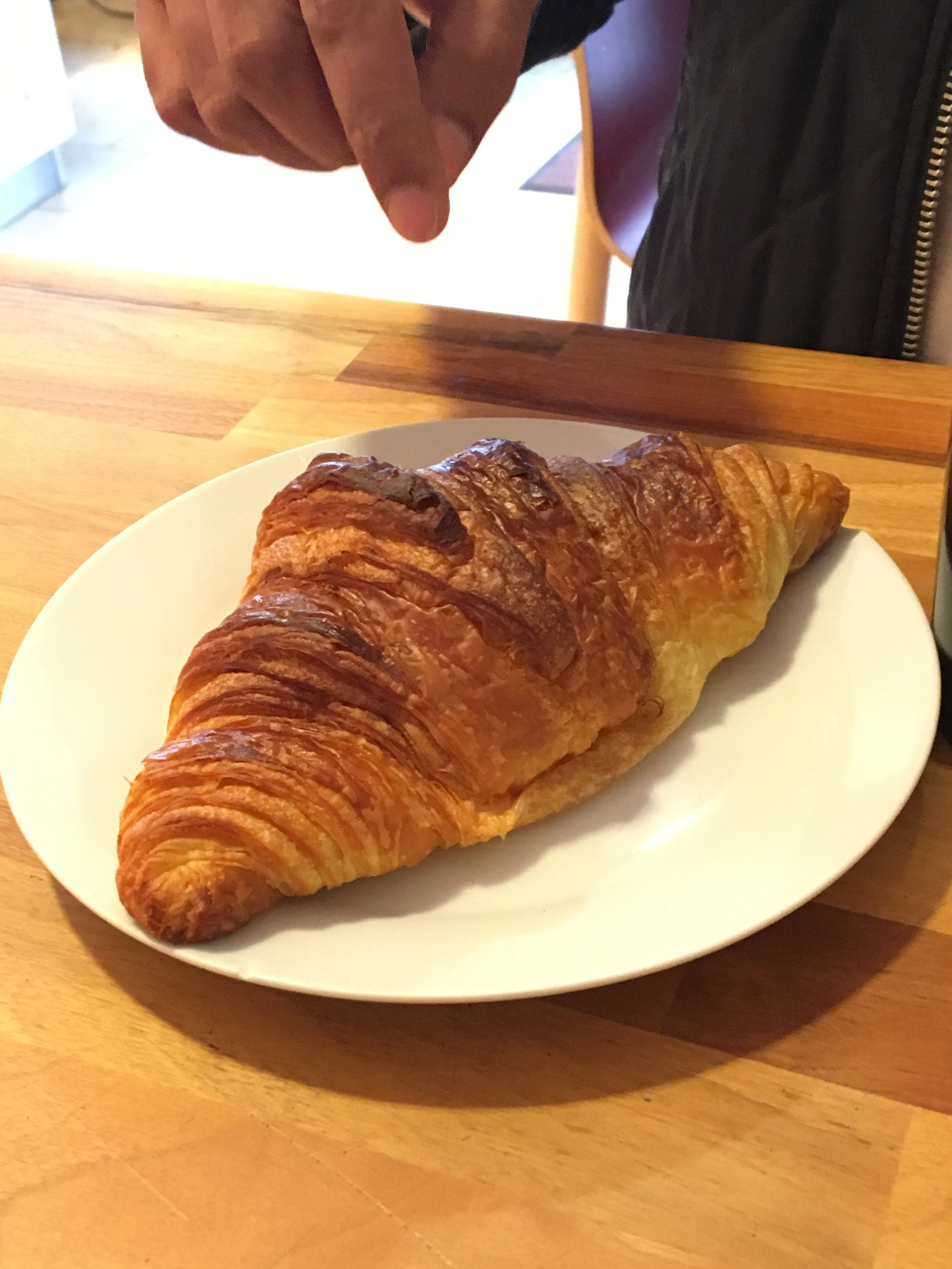 The purest test for a bakery is a plain butter croissant.