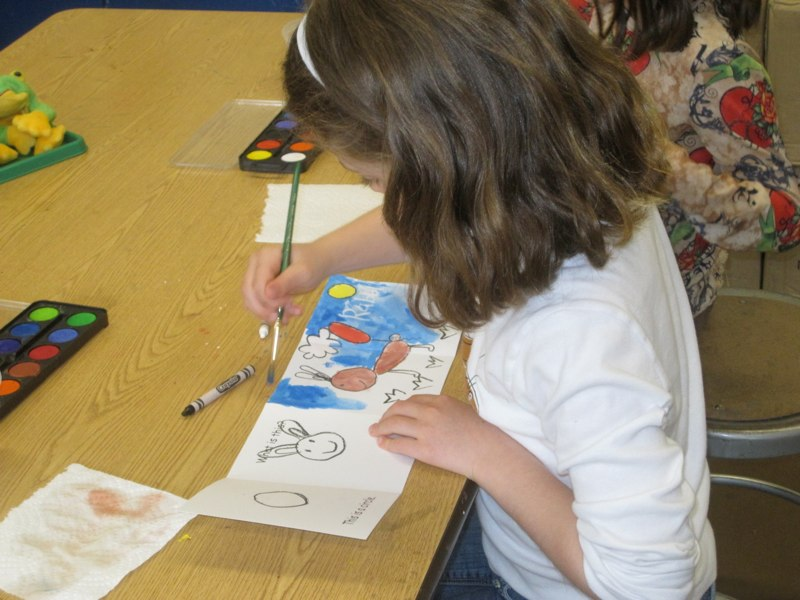 Student Working On Illustration
