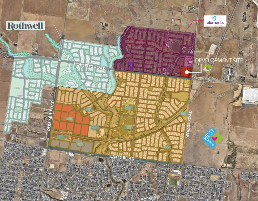 Approved Residential Estate Master Plan surrounding Truganina site