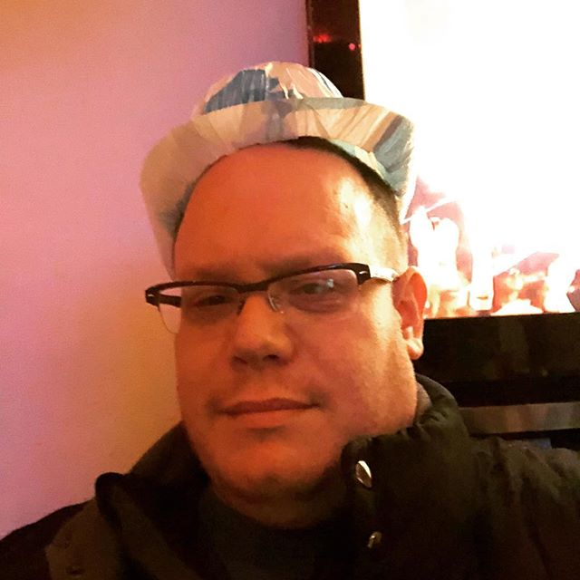 My New Years hat is too small.