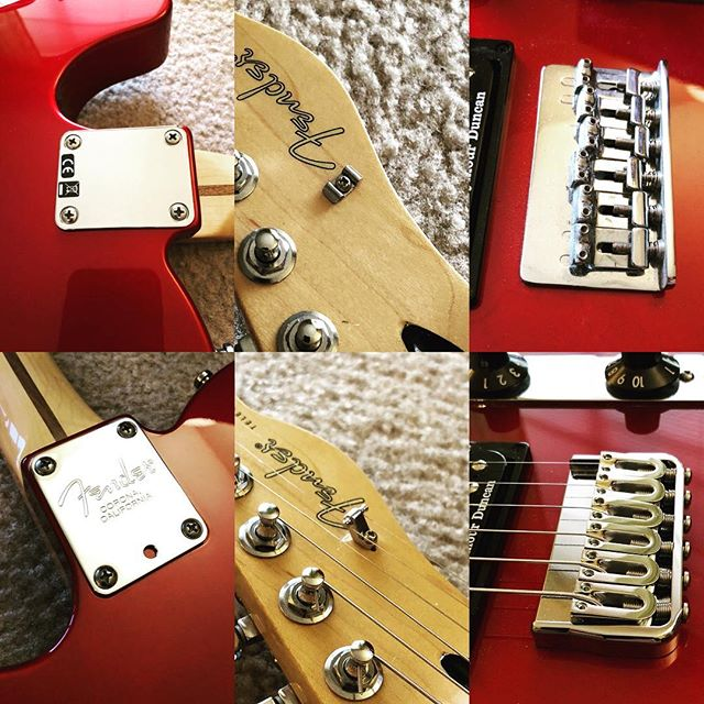 Upgrading the ol' Telecaster.