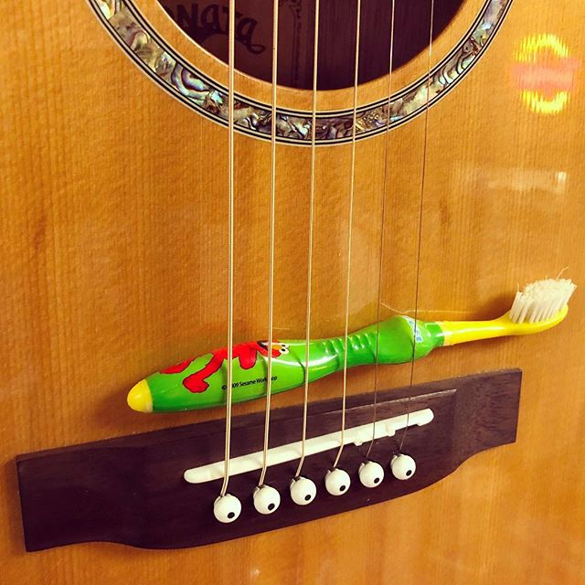 You never know what you're going to find inside a guitar.